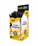 Stylo Bille BIC CRISTAL pointe moyenne couleur noire Boîte 50 stylos