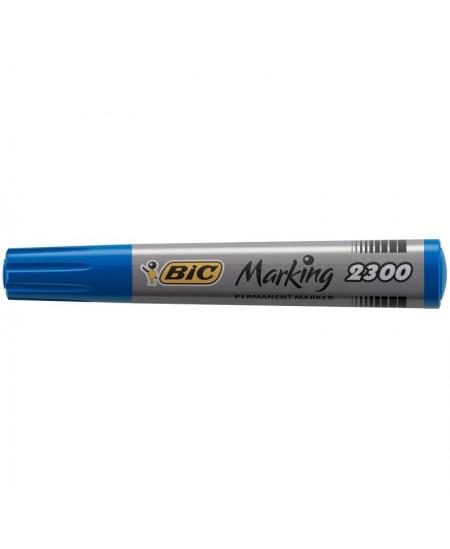 MARQUEUR PERMANENT BIC MARKING 2300 Biseau-Bleu - Boîte 12 marqueurs