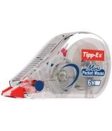 RUBAN CORRECTEUR BIC TIPP-EX MINI POCKET MOUSE 5 mm x 6 m - Boîte 10 correcteurs