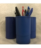 Pot à crayons Bleu ø 7,5 x H 10 cm