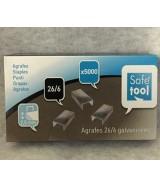 Agrafes 26/6 galvanisées 6 mm boîte 5000 agrafes