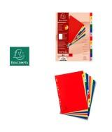 Intercalaires imprimés numériques polypropylène 12/100e - 12 positions - A4