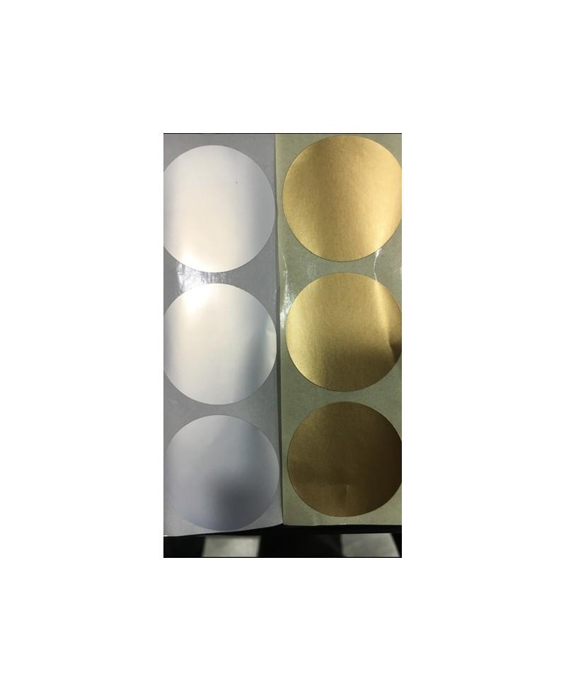 pastille de couleur argent adh sive diam tre 3 5 cm bo te de 500 pastilles. Black Bedroom Furniture Sets. Home Design Ideas