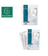 Sachet de 100 pochettes perforées polypropylène lisse 6/100e - A4