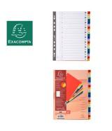 Intercalaires imprimés alphabétiques PP couleurs 12/100 AZ - A4