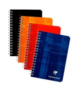 Carnet reliure spirale Clairefontaine 9,5 x 14 cm 100 pages carreaux 5x5 mm