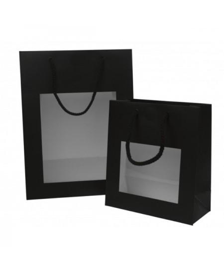 Sac luxe Noir Mat avec fenêtre dès 7.60€