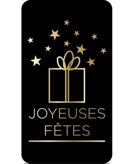 """Étiquettes adhésives """"joyeuses fêtes"""". Boîte de 500 stickers"""