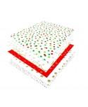 Papier de soie mousseline à motifs. Paquet de 480 feuilles