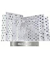 Sac luxe Blanc mat à pois métallisé dès 24.70€