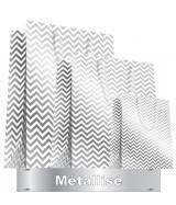 Sac luxe Blanc mat et métal zig-zag dès 24.70€