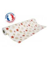 Papier cadeau blanc motifs étoiles dès 25.99€
