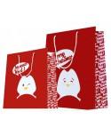 Sac luxe Rouge motif pingouin dès 18.10€ le paquet de 20 sacs