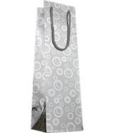 Sac luxe Mat 1 Bouteille couleur Argent motifs bulles