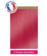 Pochette cadeau Rouge vergé métallisé dès 8.99€