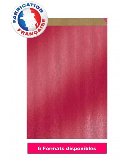 Pochette cadeau Rouge vergé métallisé dès 10.35€