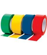 Ruban adhésif PVC couleur. Colis de 36 rouleaux.