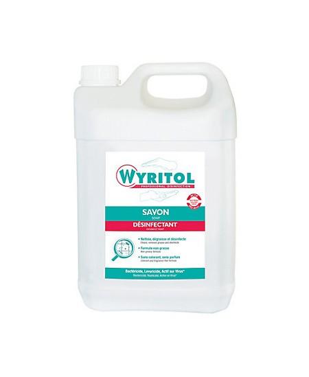 Savon bactéricide Wyritol®. Le bidon de 5 litres