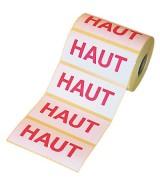 """Etiquettes adhésives de signalisation """"HAUT"""""""