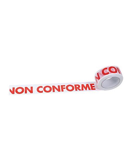 """Ruban adhésif impression """"NON CONFORME"""""""