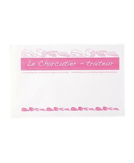 Pochette papier + Polyéthylène Charcutier / Traiteur à fermeture adhésive