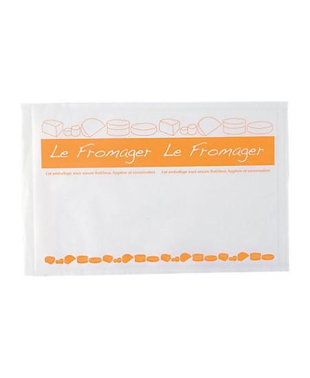 Pochette papier + Polyéthylène Fromager à fermeture adhésive