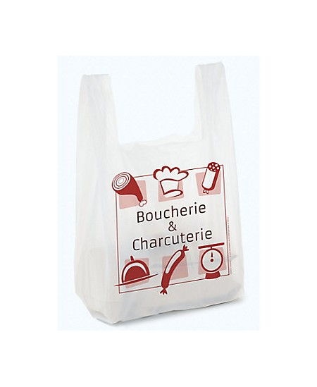 """Sac bretelle liassé impression """"Boucherie & Charcuterie"""""""