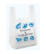 """Sac bretelle liassé impression """"Poissons & Fruits de mer"""""""