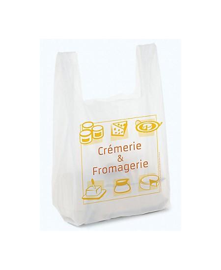 """Sac bretelle liassé impression """"Crèmerie et fromagerie"""""""
