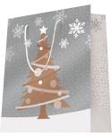 Sac luxe Argent Mat motif sapin de Noël dès 18.10€ le paquet