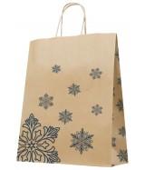 Sac Kraft Brun motifs cristaux de glace. Carton de 200 sacs