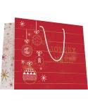 Sac luxe grande taille motifs boules de Noël. le paquet de 20 sacs