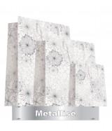 Sac luxe Blanc mat et métal motifs fleurs dès 24.70€