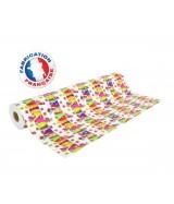 Papier cadeau brillant blanc motifs cadeaux multicolores dès 25.99€