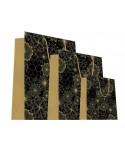 Sac luxe mat motifs fleurs Noir et Or dès 18.10€
