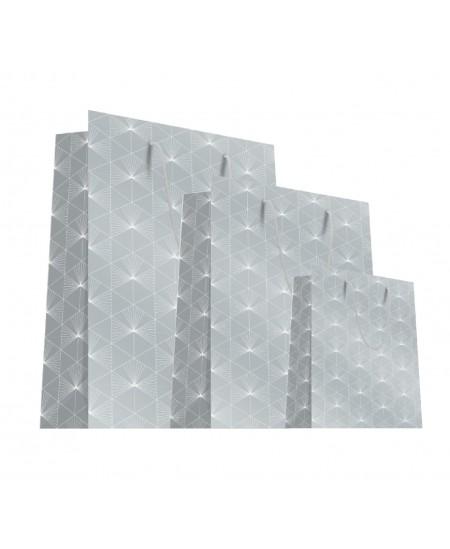 Sac luxe Argent motifs géométriques blancs dès 18.10€
