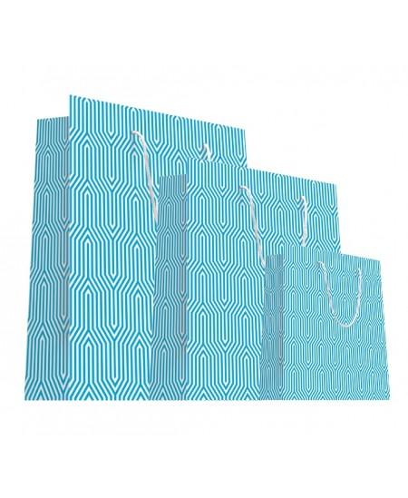 Sac luxe Bleu et blanc motifs géométriques dès 18.10€